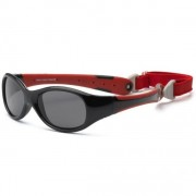 Солнечные очки для детей Real Kids Explorer с гибкими дужками черный красный