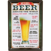 How to Order a Beer - metallskylt 30x20 cm