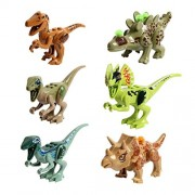 FNT 6 Set Dinosaurs of Jurassic Period Kid Baby Building Blocks Mini Dinosaur Toys