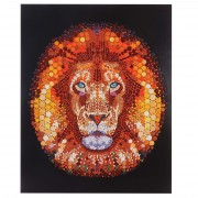 Ölgemälde Löwe, 100% handgemaltes Wandbild Gemälde XL, 100x80cm ~ Variantenangebot