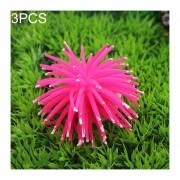 3 PCS Acuario Articulos Decoracion TPR Simulación Erizo Bola Coral Con Punto, Tamaño: L, Diámetro: 13 Cm (rosa)