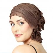 Chemo Beanies® - Headwear Covers for Hair Loss Sara (Mocha Ruffle)