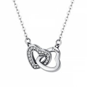 Colier cu pandantiv argint 925 KRASSUS United Hearts, lungime ajustabila 38 - 45 cm, model inima