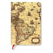 Paperblanks Linkovaný zápisník s tvrdou vazbou Paperblanks Western Hemisphere, 12 x 17 cm