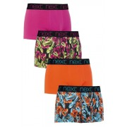 Mens Next Bright Floral Hipsters Four Pack - Multi