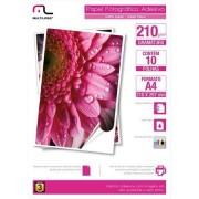 Multilaser Papel Fotográfico Multilaser Adesivo 210G/M2 A4 C/ 10 Fls - PE007 PE007