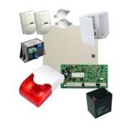 Kit alarma la efractie DSC cu sirena interioara, KIT1404INT
