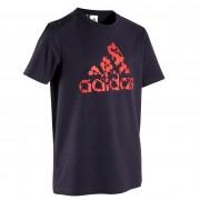 Adidas Camiseta niño azul con logotipo gráfico en el pecho