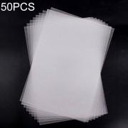 50 PCS Translucent Fine Grinding Heat Shrink Film DIY Heat Shrink Film