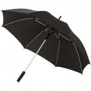 Umbrela 23 inch cu deschidere automata, rezistenta la vant, Everestus, SK, 190T pongee poliester, negru, alb, saculet inclus