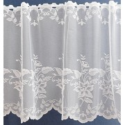 Fehér jaquard függöny leveles 484/255/0016/Cikkszám:01130702