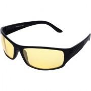 Aligatorr Stylish Night Drive Yellow UV400 Unisex Sunglass and Spectacle Frame
