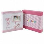 Album foto Baby Milo personalizabil 200 poze format 10x15 cm cutie roz
