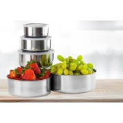 5pc Stainless Steel Bowl Set w/ Lids