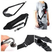 Cam Cart Universal Camera Shoulder Neck Strap Belt Sling Strap for DSLR Black Strap (Black)