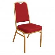 Bolero banketstoel met vierkante rugleuning rood (4 stuks) - 4