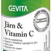 Gevita Järn & Vitamin C 90 Tuggtabletter