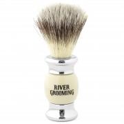 River Grooming Rasierpinsel In Metallic & Beige