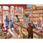 White Mountain Puzzles Cozy Candy Shop 300 Piece Jigsaw Puzzle