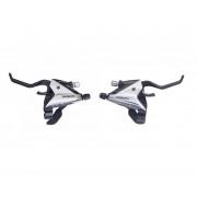 Maneta frana/schimbator Acera ST-EF65-2A, set 3x9 Viteze, Argintiu