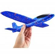 Nuevo Estilo Niños Modelo De Avion De Juguete Mano Lanzar Lanzar Avión Colorido Espuma Avión De Juguete, Tamaño: 45 * 13 * 5,0cm (azul)