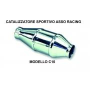 Catalizzatore sportivo asso racing Cromo 200 celle metallico C10