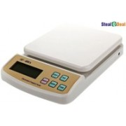 Stealodeal Digital Multi-Purpose Kitchen 10 Kg Weighing Scale(White)