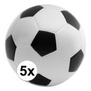 Geen 5x Anti-stressballen voetbal 6,1 cm