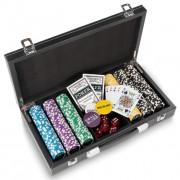 Pokrový kufor Texas Holdem Black Jack s laserovými žetónmi