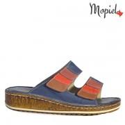 Papuci dama, din piele naturala 261202/016109/Blue/Ely