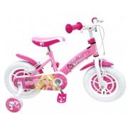 "Bicicleta pentru fetite 12"" cu cadru rezistent din otel si scaun ajustabil Barbie Stamp"