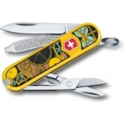 Victorinox Classic �Swiss Clockwork�, 58 Mm, On Small Blister 3 Function Multi Utility Swiss Knife(Yellow)