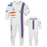 Car racing baby grow babygrow white