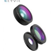 SKYVIK SIGNI 3 in 1 Mobile Camera Lens Kit Super Wide Angle Lens + 198 Fisheye Lens + 15x Macro Lens for Smartphones