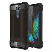 For LG K10 Tough Armor TPU + PC Combination Case(Black)
