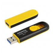 Adata UV128 DashDrive 16GB USB 3.0 pendrive, fekete-sárga