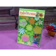 AsianHobbyCrafts DIY 'Paper Flower' Kit by Eno Greeting (SFP002): Contains: Printed Die Cut Paper, Colored Straw Paper, Embellishments