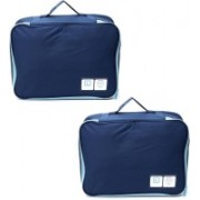Lifestyle-You (2 Pcs) Waterproof Travel Bag for Shoes & Socks. Foldable Portable Shoe Bag Organiser.(Blue)