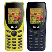 HICELL C1 TIGER COMBO OF TWO MOBILE (YELLOW BLUE) DUAL SIM 1.8 INCH DISPLAY 1050mAh BATTERY CALL RECORDING