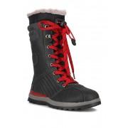 Aquatherm by Santana Canada Jissika Faux Fur Lined Waterproof Tall Boot BLACK RED PU