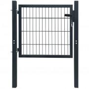 vidaXL Fence Gate Steel Anthracite 106x150 cm