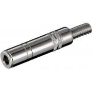 Valueline JC-112 6.35mm Zilver kabel-connector