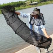 1.5M Red De Pesca Plegable Jaula De 5 Capas De Alambre De La Jaula Neta De Peces Peces Peces Cuidado Cuidado Anti - Scraper Cuidado, Color Al Azar Entrega