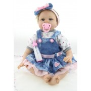 55 Cm/22 Pouces Doux Silicone Reborn Baby Dolls Main Bébé Sucette Réaliste Réaliste Poupées Pour Les Filles Brinquedos Juguetes Bebe