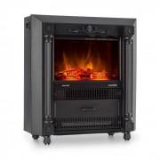 Klarstein Grenoble estufa decorativa chimenea electrica efecto llama 1850 W negro (FP1-Grenoble)
