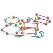 Set constructie Forme geometrice Learning Resources, 122 betisoare drepte si curbe, 48 conectori