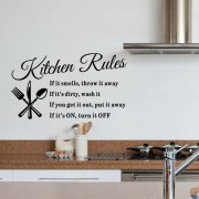 Wallstickers för Köket Köksregler / Kitchen Rules