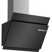 Hotă, 60 cm Design înclinat sticlă, culoare negru Bosch, 560m3/h, 1 motor, 59cm,DWK67JQ60