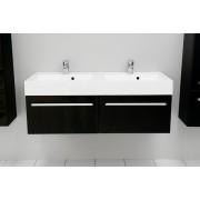 Antado Variete szafka z umywalką, wisząca 120 czarny połysk 675322/634107