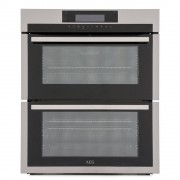 AEG DUE731110M Double Built Under Electric Oven - Stainless Steel